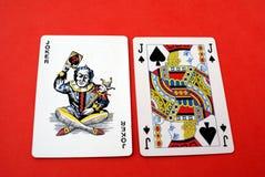 Forcelle reali dell'istantaneo del casinò delle schede di gioco Immagine Stock Libera da Diritti