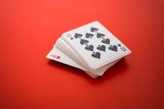 Forcelle reali dell'istantaneo del casinò delle schede di gioco Immagini Stock