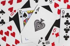 Forcelle reali dell'istantaneo del casinò delle schede di gioco Immagine Stock