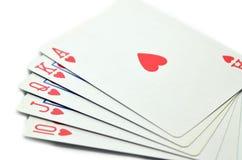Forcelle reali dell'istantaneo del casinò delle schede di gioco Immagini Stock Libere da Diritti