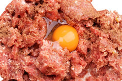 Forcemeat with egg Stock Photography