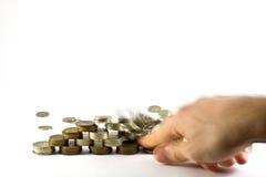 forcerad finansiell pyramid Arkivbild