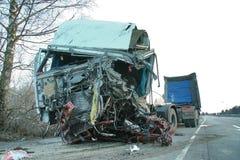 forcerad hård lastbil Arkivfoto