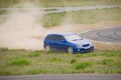 forcerad race för bil Fotografering för Bildbyråer