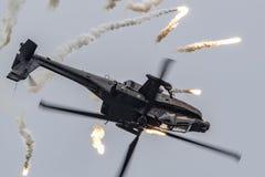 Forces aériennes des Pays-Bas AH-64 Apache images libres de droits