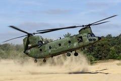 Forces aériennes des Pays-Bas Boeing CH-47D Chinook Images libres de droits