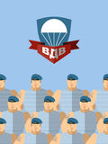 2 FORCES AÉROPORTÉES d'August Day Of Vacances militaires russes tran Image stock