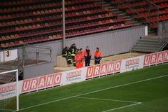 Forces de sécurité à la partie de football photo libre de droits