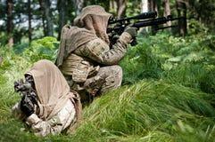 Forces rebelles défendant leur prise de masse Photos stock