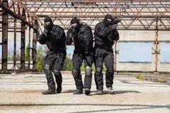 Forces spéciales dans l'action Photos libres de droits