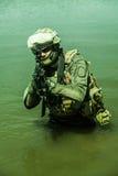 Forces spéciales dans l'eau Photographie stock
