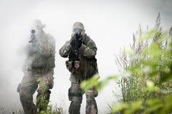 Forces spéciales sur la zone de bataille Photographie stock libre de droits