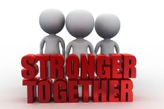 Forces to lift the words Stronger Together Royalty Free Stock Images