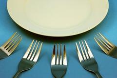 Forchetta e cucchiai Fotografie Stock Libere da Diritti
