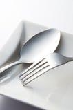Forchetta e cucchiaio Immagini Stock Libere da Diritti
