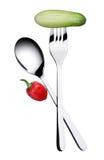 Forchetta e cucchiaio Immagine Stock
