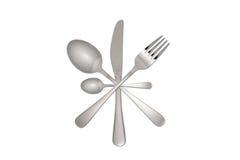 Forchetta, lama e cucchiaio Fotografie Stock Libere da Diritti