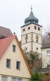 Forchtenberg em Hohenlohe foto de stock