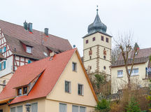 Forchtenberg em Hohenlohe fotografia de stock