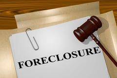 Forclusion - concept juridique Photo stock