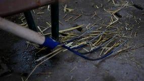 Forcone da fieno nella stalla Fotografie Stock Libere da Diritti