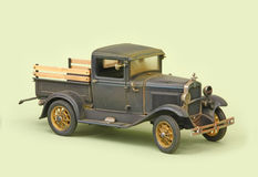 Ford 1931 Junkyard Pickup. 1931 Ford junkyard salvage Pickup, Motor City Classics 1:18 scale diecast, right front view Royalty Free Stock Photo