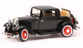 Ford 1932 3-Window Coupe. 1932 Ford 3-Window coupe, Yatming Road Legends 1:18 scale diecast, left side view Stock Image