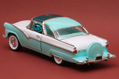 Ford 1955 Fairlane Crown Victoria. 1955 Ford Fairlane Crown Victoria, Yat Ming Road Legends 1:18 scale, left rear view Stock Photo