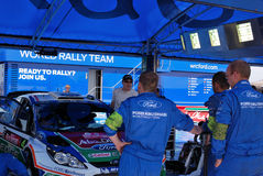 Ford Abu Dhabi World Rally Team - Garage Stock Photos