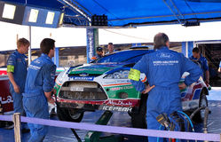 Ford Abu Dhabi World Rally Team - Garage Stock Images