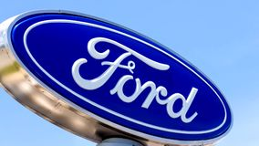 Ford Automobile Dealership Sign stock video footage