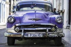 Ford. Beautiful details of the old cars in Havana, Cuba Stock Image