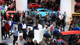 Ford booth at the IAA 2015 stock video footage