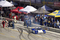 Ford Can-Am leaves pit stop - Grand AM Rolex Races Stock Photo