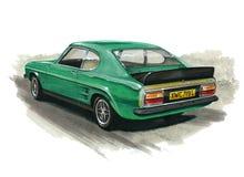 Ford Capri Mk 1 RS3100 illustration stock