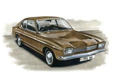 Ford Capri MkI 1300 illustration stock