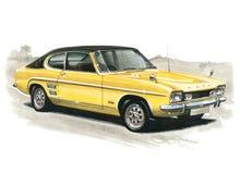 Ford Capri MkI 3000E Stock Afbeeldingen