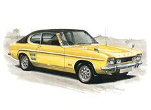 Ford Capri MkI 3000E Stock Images
