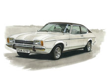 Ford Capri MkII 3000 Ghia Royalty Free Stock Photo