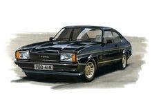 Ford Capri MkII 2 0 JPS (John Player Special) illustration stock
