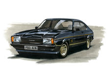 Ford Capri MkII 2.0 JPS (John Player Special) Stock Image