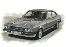 Ford Capri MkIII 2.8 Injection Stock Photos