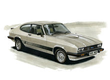 Ford Capri MkIII 2 0 S Images stock