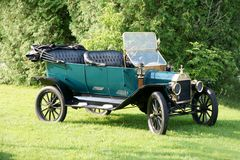 Ford Car. Picture of the Green 1913 Ford Car Stock Photo