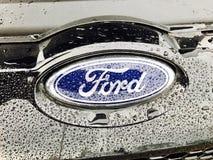 Ford car badge Stock Photo