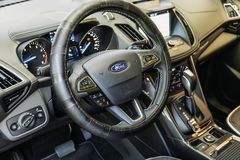 Ford Car Dashboard Close View moderno imagens de stock royalty free