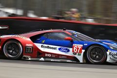 67 Ford Chip Ganassi Racing Ford GT. IMSA, WeatherTech SportsCar Championship, Continental Tire Sports Car Challenge, Prototype, GT Le Mans GTLM, GT Daytona Stock Photography