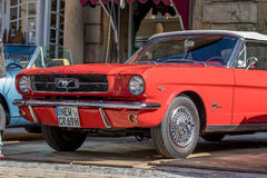 Ford Classic sporty convertible of the 60s Royalty Free Stock Image