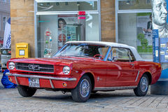 Ford Classic sporty convertible of the 60s Royalty Free Stock Images