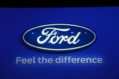 Ford Company Logo at the IAA Stock Photos